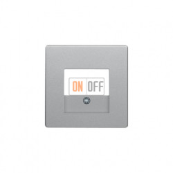 Розетка USB двойная, для зарядка, 1,4 А, вставка белая, алюминий с эффектом бархата 260009 - 10336084