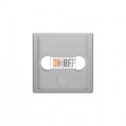 Розетка  проходная TV SAT FM, диапазон частот от 4 до 2400 MГц, алюминий с эффектом бархата 12036084 - S4110