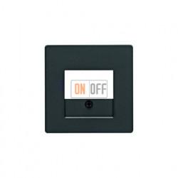 Розетка USB двойная, для зарядка, 1,4 А, вставка антрацит 260005 - 10336086