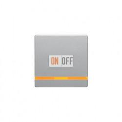 Выключатель одноклавишный с подсветкой, универс. (вкл/выкл с 2-х мест) 10 А / 250 В~ алюминий с эффектом бархата 3036 - 16216084 - 1675