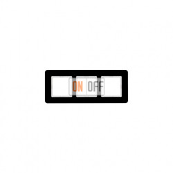 Рамка тройная Berker Q.7 черное стекло 10136076