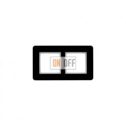 Рамка двойная Berker Q.7  черное стекло 10126076