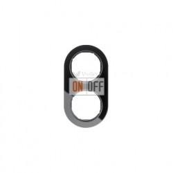 Рамка двойная Berker R.classic черное стекло 10122016