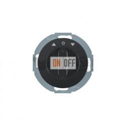 Поворотный выключатель жалюзи 10 А Berker R.classic черный глянцевый 38112045