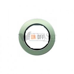 Рамка одинарная Berker R.classic нержавеющая сталь/черный 10112004