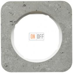 Рамка одинарная Berker R.1 , бетон белая вкладка 10112379