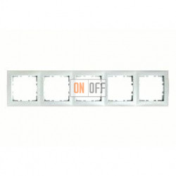 Рамка пятерная Berker S.1 белый матовый 10159909