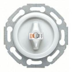 Поворотный выключатель/переключатель универсальный (вкл/выкл с одного-двух мест), материал ручки - пластик белый глянцевый 1647 - 387600