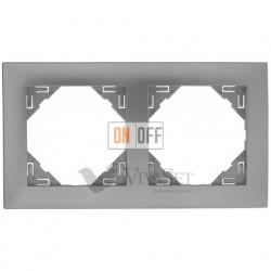 Рамка двойная  Efapel logus 90 алюминий 90920 TAL