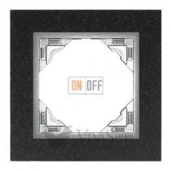 Рамка одинарная Efapel logus 90 гранит/алюминий 90910 TGA