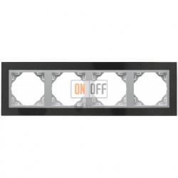 Рамка четверная Efapel logus 90 гранит/алюминий 90940 TGA