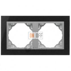 Рамка двойная Efapel logus 90 гранит/алюминий 90920 TGA