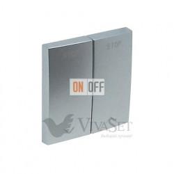 Выключатель для жалюзи с электрической блокировкой Efapel logus 90 алюминий 21290 - 90613 TAL