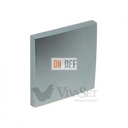 Выключатель  1 клавишный с подсветкой 10А 250V~  Efapel logus 90 алюминий 21012 - 90602 TAL