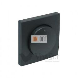 """Поворотно-нажимной диммер для ламп накаливания """" 20 - 300Вт  Efapel logus 90 серый 21212 - 90721 TIS"""