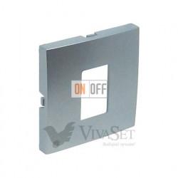 Розетка компьютерная одинарная RJ45 кат. 5e UTP Efapel logus 90 алюминий 21453 - 90751 TAL