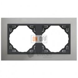 Рамка двойная Efapel logus 90 алюминий/серый 90920 TUS