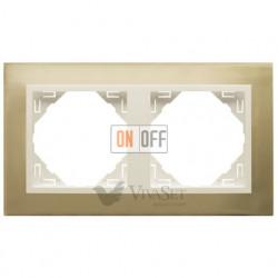 Рамка двойная Efapel logus 90 золото/жемчуг 90920 TOP