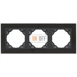 Рамка тройная Efapel logus 90 никель/серый 90930 TQS
