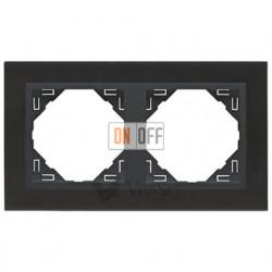 Рамка двойная Efapel logus 90 никель/серый 90920 TQS