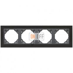 Рамка четверная Efapel logus 90 никель/серый 90940 TQS