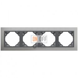 Рамка четверная Efapel logus 90 алюминий/серый 90940 TUS