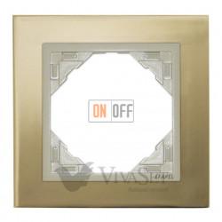 Рамка одинарная Efapel logus 90 золото/жемчуг 90910 TOP