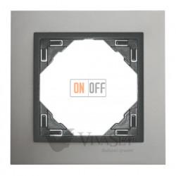 Рамка одинарная Efapel logus 90 алюминий/серый 90910 TUS