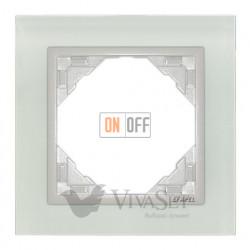 Рамка одинарная Efapel logus 90 стекло лед 90910 TCG