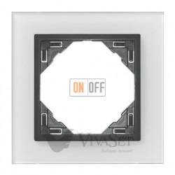 Рамка одинарная Efapel logus 90 стекло серый 90910 TCS