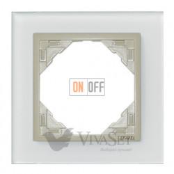 Рамка одинарная Efapel logus 90 стекло жемчуг 90910 TCP