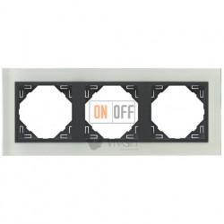 Рамка тройная Efapel logus 90 стекло серый 90930 TCS