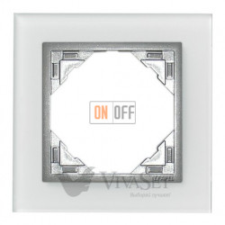Рамка одинарная Efapel logus 90 стекло алюминий 90910 TCA