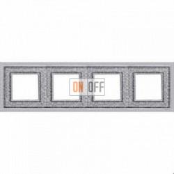 Crystal De Luxe Art Блестящий хром Рамка 4-я Bright Chrome FD01294CB