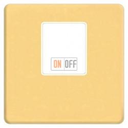 Аудиорозетка одинарная (красное золото) FD04317OR-A - FD-310ST - FD16-BAST