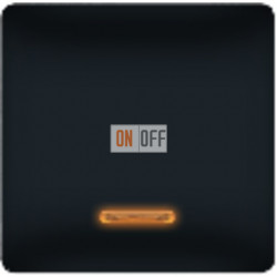 Выключатель одноклавишный с подсветкой 10А (черный) FD17705-ML - FD21139-1 - FD16505 - FD16-BAST
