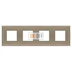 Рамка четверная, для горизонтального/вертикального монтажа FD01244NS