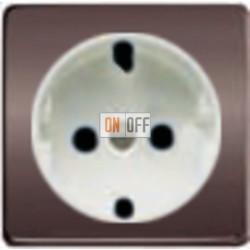 Розетка 2к б/з 10-16А 250 V~ (графит-белый) FD16523 - FD04314GR - FD16-BAST