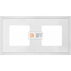 Рамка двойная Fede Marco, белый металл FD01602WH