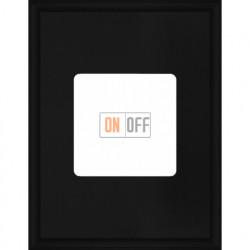 Рамка одинарная прямоугольная Fede Marco, черный металл FD01611BK