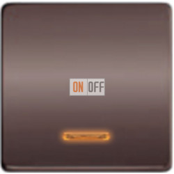 Выключатель одноклавишный с подсветкой 10А 250 V~ FD04312GR - FD21139-1 - FD16505 - FD16-BAST
