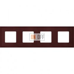 Рамка четверная Fede Marco, красное вино металл FD01604RW