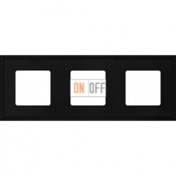 Рамка тройная Fede Marco, черный металл FD01603BK
