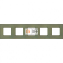 Рамка пятерная Fede Marco, оливковый металл FD01605GO