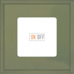 Рамка одинарная Fede Marco, оливковый металл FD01601GO
