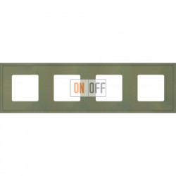 Рамка четверная Fede Marco, оливковый металл FD01604GO