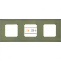 Рамка тройная Fede Marco, оливковый металл FD01603GO