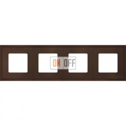 Рамка четверная Fede Marco, мокко металл FD01604MK