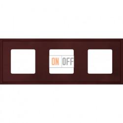 Рамка тройная Fede Marco, красное вино металл FD01603RW