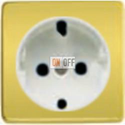 Розетка 2к+3 с винтовым подключением 10-16А 250 V~ (никель/белый) FD16523 - FD04314OB - FD16-BAST